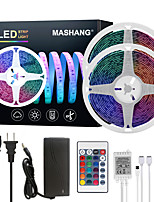 cheap -MASHANG LED Strip Lights 32.8ft 10M RGB Tiktok Lights Waterproof 300LEDs SMD 5050 with 24 Keys IR Remote Controller and 100-240V Adapter for Home Bedroom Kitchen TV Back Lights DIY Deco