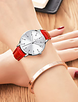 cheap -Women's Quartz Watches Casual Fashion Genuine Leather Quartz White+Blue White / Black White+Red Water Resistant / Waterproof Analog