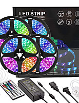 cheap -4x5M Light Sets RGB Strip Lights 1080 LEDs 2835 SMD 8mm 1 44Keys Remote Controller 1x 1 To 4 Cable Connector 1 X 12V 5A Power Supply 1 set RGB Easter Day Christmas Creative Party Linkable 12 V