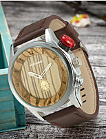 cheap -Women's Quartz Watches Vintage Fashion Wood Japanese Quartz Wood Black Brown Wooden Large Dial 1 pc Analog One Year Battery Life