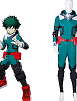 cheap -Inspired by My Hero Academia Boko No Hero izuku midoriya Anime Cosplay Costumes Japanese Cosplay Suits Leotard / Onesie Gloves Belt For Men's Women's / Kneepad / Wrist Brace