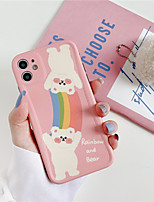 cheap -Korea Retro rainbow brown bear cute Phone case for iPhone 11 Pro MAX X XR se 2020 case silicone cover for coque iPhone 7 8 Plus Case