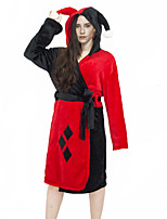 cheap -Inspired by Suicide Squad Harley Quinn Anime Cosplay Costumes Japanese Sleepwear Bath Robe For Women's