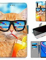 cheap -Case For Huawei P40 Huawei P40 Pro Huawei P40 lite E Wallet Card Holder with Stand Full Body Cases Drink Soda Cat PU Leather TPU for Huawei Mate 30 Lite Honor 10 Lite Honor 9A