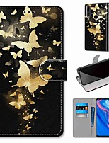 cheap -Case For Huawei P40 Huawei P40 Pro Huawei P40 lite E Wallet Card Holder with Stand Full Body Cases Golden Butterfly Group PU Leather TPU for Huawei Mate 30 Lite Honor 10 Lite Honor 9A
