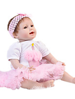 cheap -Reborn Baby Dolls Clothes Reborn Doll Accesories Cotton Fabric for 20-22 Inch Reborn Doll Not Include Reborn Doll Princess Skirt Soft Pure Handmade Girls' 2 pcs
