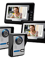 cheap -Video Intercom Wired 7 Inch Hands-free 800*480 Pixel Two To Two Video Doorphone with Unlock Function