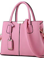 cheap -Women's Zipper / Chain PU Leather Crossbody Bag Leather Bag Solid Color Wine / Black / Purple