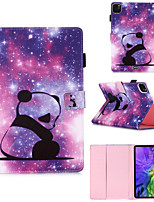 cheap -Case For Apple iPad Pro 11 inch 2020 iPad Mini 3/2/1 / iPad Mini 4 with Stand / Flip / Pattern Full Body Cases Panda/ Animal / Cartoon PU Leatherfor iPad5 iPad6 iPad 9.7 2018 2017
