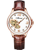 cheap -Women's Quartz Watches Elegant Sparkle Genuine Leather Quartz White Black Red Water Resistant / Waterproof Analog