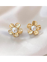 cheap -Women's Earrings Classic Flower Love Classic Vintage Earrings Jewelry Gold For Gift Daily 1 Pair