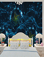 cheap -Art Deco Custom Self Adhesive Mural Wallpaper Cool Windmill Children Cartoon Style Suitable For   Children's Room
