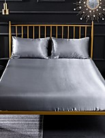 cheap -Silk Fitted Sheet Cooling Bed Sheet Wrinkle Fade Stain Resistant Deep Pocket Bed Sheet Soft