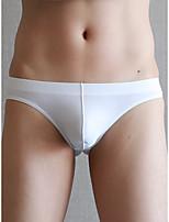 cheap -Men's Basic Briefs Underwear - Normal Low Waist White Green Brown S M L