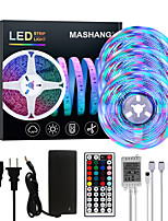 cheap -MASHANG Bright RGBW LED Strip Lights 15M(3*5M) RGBW Tiktok Lights 3510LEDs SMD 2835 with 44 Keys IR Remote Controller and 100-240V Adapter for Home Bedroom Kitchen TV Back Lights DIY Deco