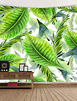 cheap -Green Leaf Plant Painting Digital Printed Tapestry Decor Wall Art Tablecloths Bedspread Picnic Blanket Beach Throw Tapestries Colorful Bedroom Hall Dorm Living Room Hanging