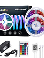 cheap -MASHANG 32.8ft 10M LED Strip Lights RGB Tiktok Lights 600LEDs Flexible Color Change SMD 2835 with 24 Keys IR Remote Controller and 100-240V Adapter for Home Bedroom Kitchen TV Back Lights DIY Deco