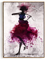 cheap -Elegant Poetry Dancing Skirt Girl Watercolor Abstract Canvas Painting Art Print Poster Picture Decoration Modern Home Decoration