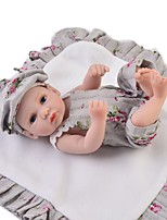 cheap -Reborn Baby Dolls Clothes Reborn Doll Accesories Cotton Fabric for 10-11 Inch Reborn Doll Not Include Reborn Doll Flower Soft Pure Handmade Boys' 3 pcs