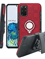 cheap -Case For Samsung Galaxy S9 / S9 Plus / Note 9 Shockproof / Ring Holder Full Body Cases Solid Colored TPU / Plastic