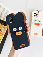 cheap -3D Cute Cartoon Brunch Toast Sausage Bear Phone Case for iPhone 11 Pro se 2020 XS Max X XR 6 6S 7 8 Plus Shockproof Soft Silicone Cover
