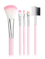 cheap -Professional Makeup Brushes 5 pcs Professional Cute Full Coverage Adorable Comfy Artificial Fibre Brush Plastic for Eyeliner Brush Blush Brush Foundation Brush Makeup Brush Eyeshadow Brush