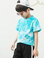 cheap -Kids Boys' Street chic Tie Dye Short Sleeve Tee Blue