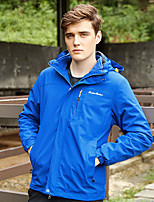 cheap -Men's Hiking Jacket Winter Outdoor Waterproof Windproof Fleece Lining Breathable Top Full Length Visible Zipper Hunting Fishing Climbing Black / Red / Blue / Light Blue / Warm
