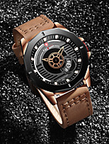 cheap -Men's Sport Watch Quartz Modern Style Stylish Leather Water Resistant / Waterproof Calendar / date / day Analog Casual Outdoor - White Blue Red