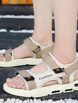 cheap -Men's Summer Vintage / Chinoiserie Daily Outdoor Sandals Walking Shoes Cotton / Mesh Breathable Non-slipping Wear Proof White / Black / Beige
