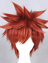 cheap -Cosplay Wig Shirou Emiya Archer Fate stay night Straight Cosplay Layered Haircut With Bangs Wig Short Brown Synthetic Hair 14 inch Men's Anime Cosplay Cool Brown
