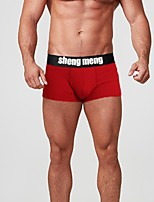 cheap -Men's Basic Briefs Underwear Mid Waist White Black Red M L XL