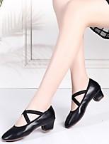 cheap -Women's Latin Shoes PU Heel Cuban Heel Dance Shoes Black / Red