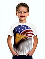 cheap -Kids Boys' Basic Flag Short Sleeve Tee White