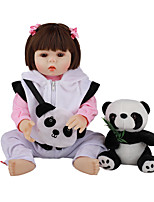 cheap -FeelWind 18 inch Reborn Doll Baby & Toddler Toy Reborn Toddler Doll Baby Girl Gift Cute Lovely Parent-Child Interaction Tipped and Sealed Nails Full Body Silicone LV033 with Clothes and Accessories