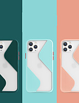 cheap -iPhone11Pro Max Contrast Color Pore Skin Feel Mobile Phone Case XS Max Silicone Anti-fall Button Protection 6 7 8Plus SE 2020 Protective Case