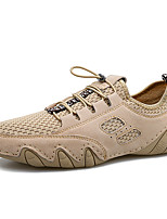 cheap -Men's Spring / Fall Classic / Vintage / British Daily Oxfords Suede / Mesh Breathable Non-slipping Khaki / Gray
