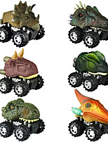 cheap -Vehicle Playset Pull Back Car / Inertia Car Jurassic Dinosaur Tyrannosaurus Tyrannosaurus Rex Cute Creative Cool PVC (Polyvinylchlorid) Plastic Mini Car Vehicles Toys for Party Favor or Kids Birthday