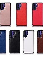 cheap -Case For Huawei Huawei P40/P40 Lite/P40 Pro/P30/P30 Pro/P30 Lite/Mate 30/Mate 30 Lite/Mate 30 Pro/Mate 20/Mate 20 Pro/Mat Card Holder / Shockproof / Flip Full Body Cases Solid Colored PU Leather / TPU