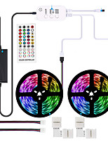 cheap -Waterproof  LED Strip Lights RGB 600 LEDs Light Strip Music Sync RGB LED Strip5050 SMD Color Changing LED Strip Light Bluetooth Controller  40 Key Remote and 12V 72W Power Supply
