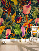 cheap -Custom Self-adhesive Mural Tropical Flowers Suitable for Background Wall Restaurant Bedroom Hotel Wall Decoration Art Room Wallcovering