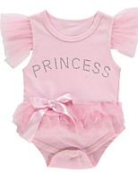 cheap -Baby Girls' Basic Floral Short Sleeves Romper Blushing Pink
