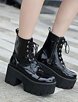 cheap -Women's Boots Fall Flat Heel Round Toe Daily PU Black