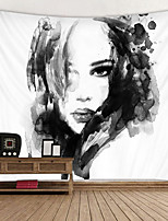 cheap -Black And White ink Painting Printed Tapestry Decor Wall Art Tablecloths Bedspread Picnic Blanket Beach Throw Tapestries Colorful Bedroom Hall Dorm Living Room Hanging