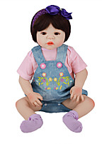 cheap -FeelWind 22 inch Reborn Doll Baby & Toddler Toy Reborn Toddler Doll Baby Girl Gift Cute Lovely Parent-Child Interaction Tipped and Sealed Nails Full Body Silicone LV059 with Clothes and Accessories