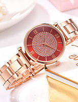 cheap -Ladies Quartz Watches Elegant Fashion Rose Gold Alloy Chinese Quartz White Black Blue New Design Casual Watch 1 pc Analog One Year Battery Life