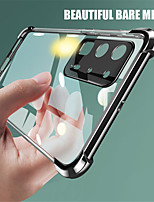 cheap -Transparent Plating Soft TPU Phone Case For Huawei P40 P40Pro P30 P30Pro Honor 30 30s 30Pro Nova 7 7SE 7Pro Mate 30 30Pro 20 20Pro Ultra Thin Clear Silicone Back Cover