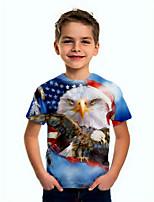 cheap -Kids Boys' Basic Flag Short Sleeve Tee Blue