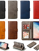 cheap -Case For Samsung Galaxy S20/S20 Plus/S20 Ultra/S10/S10E/S10 Plus/S9/S9 Plus/S8/S8 Plus/Note 10/A90 5G  Card Holder / Shockproof / Flip Full Body Cases Solid Colored PU Leather / TPU