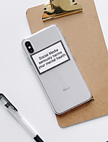 cheap -Fahion iPhone Case For Apple iPhone 11  iPhone 11 Pro iPhone 11 Pro Max Shockproof Dustproof Transparent Back Cover Word Phrase TPU iPhone SE